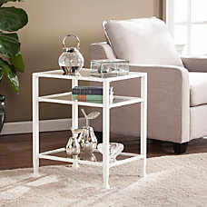 Southern Enterprises Jaymes MetalGlass End Table