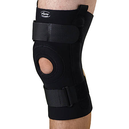 "CURAD® Neoprene U-Shaped Hinged Knee Supports, 2XL, 10 1/4"" x 18 - 20"""