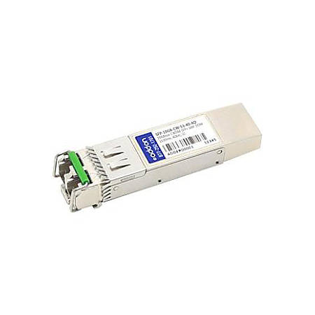 AddOn MSA and TAA Compliant 10GBase-CWDM SFP+ Transceiver (SMF, 1530nm, 40km, LC, DOM)