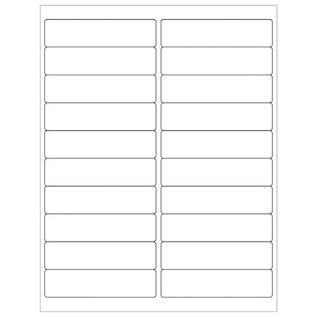 "Office Depot® Brand Removable Rectangular Laser Labels, LL264, 4"" x 1"", White, Case Of 2,000"