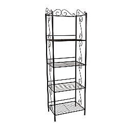 Monarch Specialties 4 Shelf Metal Etagere