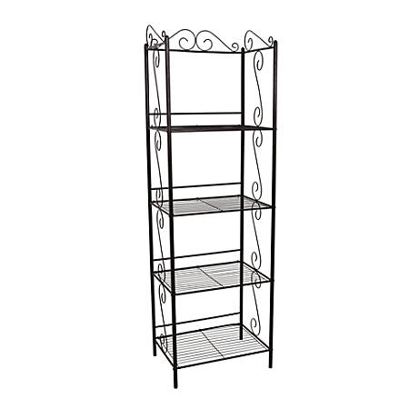 monarch specialties 4 shelf metal etagere bookcase copper by office depot officemax. Black Bedroom Furniture Sets. Home Design Ideas