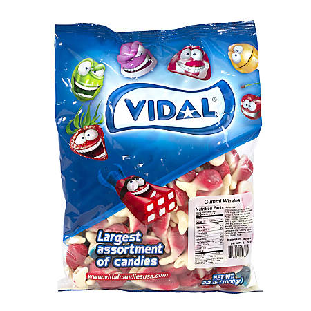 Vidal Gummy Whales, 2.2-Lb Bag