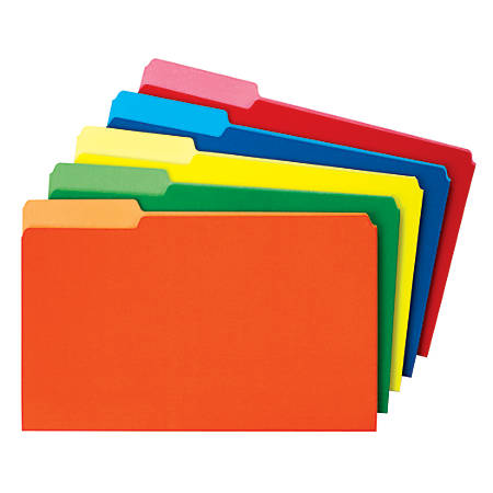 Smead® Color File Folders, Legal Size, 1/3 Cut, Assorted Colors, Box Of 100