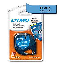 DYMO LetraTag 91335 Black On Blue