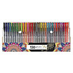 Office Depot® Brand Gel Pens, Fine/Medium Points, 0.7 - 1.0 mm, Clear Barrels, Assorted Ink Colors, Pack Of 120