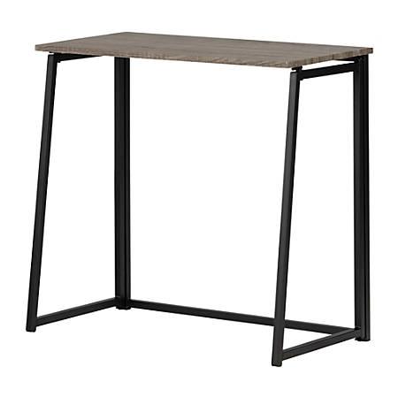 "South Shore Evane 32""W Industrial Folding Computer Desk, Oak Camel"