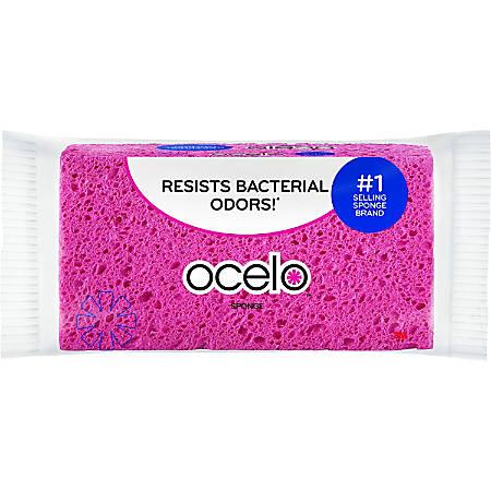 """O-Cel-O Large Sponge - 4.3"""" Height x 7.9"""" Width x 1.6"""" Depth - 12/Carton - Cellulose - Assorted"""