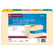 Smead Legal Size Manila File Guides