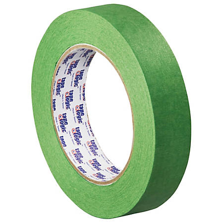 "Tape Logic® 3200 Painter's Tape, 3"" Core, 1"" x 180', Green, Case Of 12"