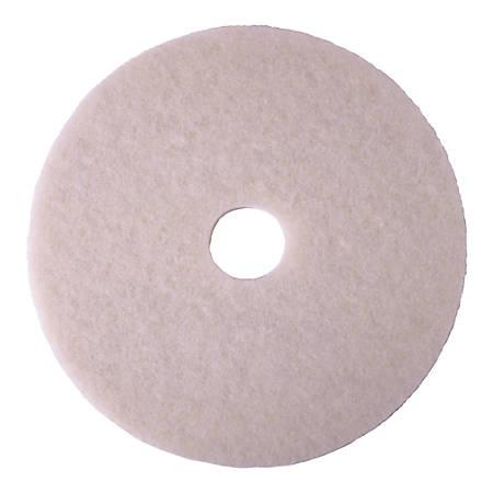 "Niagara 4100N Polishing Pads, 15"", White, Pack Of 5 Pads"