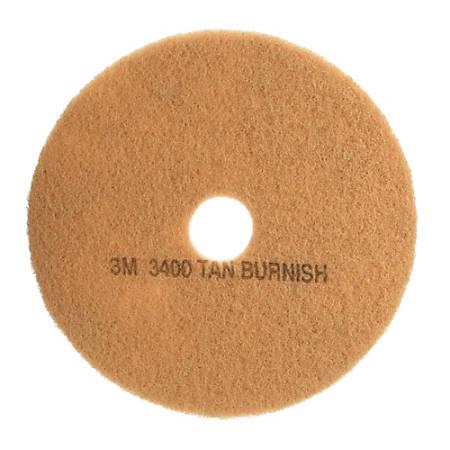 """3M™ 3400 Burnish Floor Pads, 21"""", Tan, Pack Of 5 Pads"""