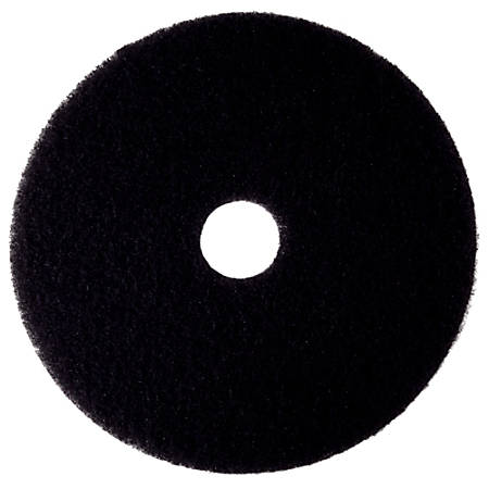 "3M™ 7300 High-Productivity Floor Stripping Pads, 19"", Black, Pack Of 5 Pads"