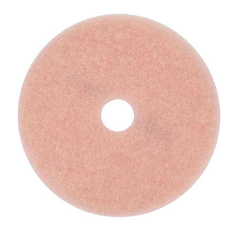 "3M™ 3600 Eraser Burnish Pads, 20"" Diameter, Pink, Box Of 5"