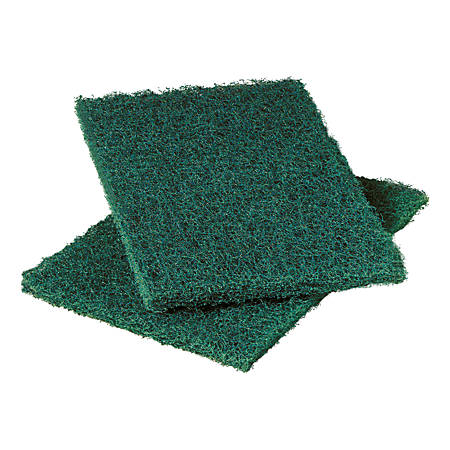 "3M™ Scotch-Brite 86CC Heavy-Duty Scouring Pads, 6"" x 9"", Green, Pack Of 10 Pads"