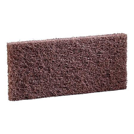 "Niagara Heavy-Duty Utility Scrub Pads, 4-5/8"" x 10"", Brown, Box Of 5 Pads"