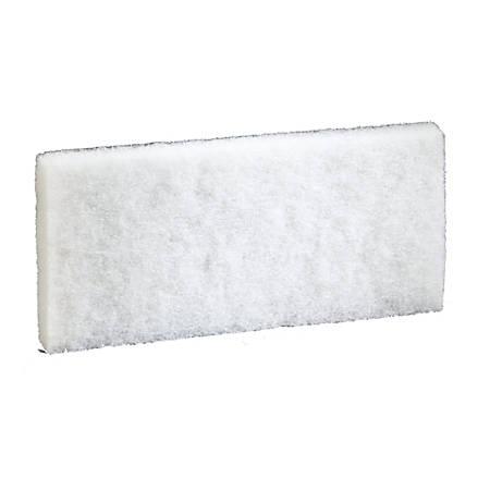 "Niagara Light-Duty Utility Scrub Pads, 4-5/8"" x 10"", White, Box Of 5 Pads"