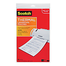 Scotch Thermal Laminating Pouches 8 12