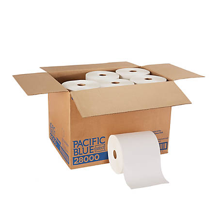"""Pacific Blue by GP Pro Paper Towels, Select Premium, 2-Ply, 7-7/8"""" x 350', White, Case Of 12 Rolls"""