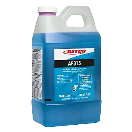 Betco® AF315 Disinfectant Cleaner, Citrus Floral Scent, 2 Liter, Case Of 4