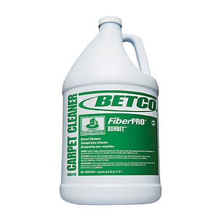 Betco® FiberPRO Bonbet Carpet Shampoo, Fresh Scent, 128 Oz, Blue, Pack Of 4 Bottles