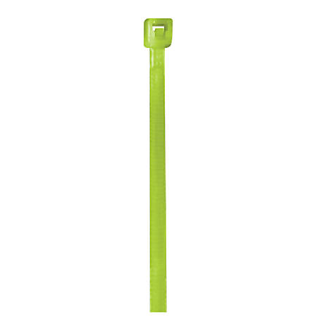 """Office Depot® Brand Color Cable Ties, 4"""", Fluorescent Green, Case Of 1,000"""