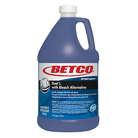 Betco® Symplicity™ Duet L Detergent With Bleach Alternative, Fresh Scent, 128 Oz, Blue