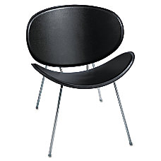 Safco Sy Leather Guest Chair BlackChrome