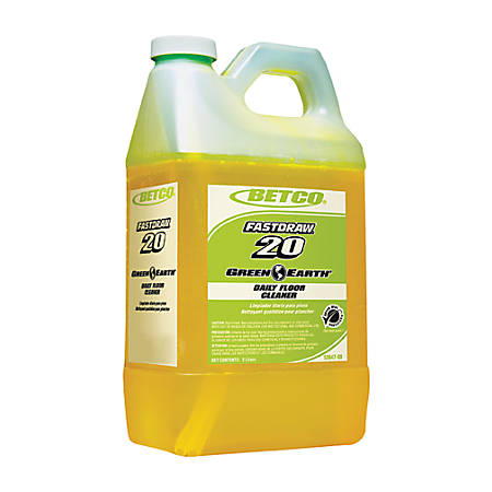 Betco® Green Earth Daily Floor Cleaner, 76 Oz, Yellow, Pack Of 4 Bottles