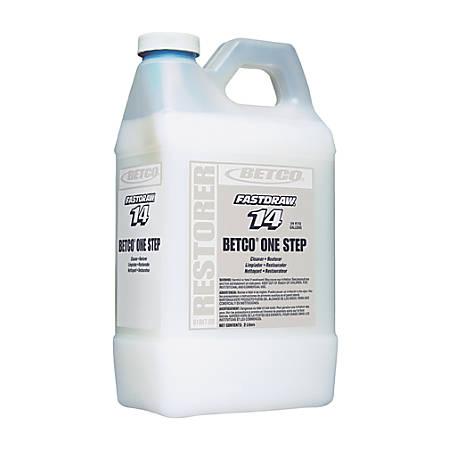 Betco® 1-Step Floor Finish Restorer, Lemon, 2 Liters Per Bottle, Case Of 4 Bottles