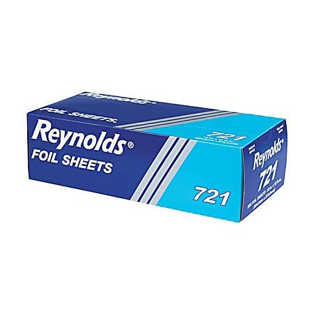"Pactiv Individual Aluminum Foil Sheets, 12"" x 10 3/4"", 500 Sheets Per Pack, Case Of 6 Packs"
