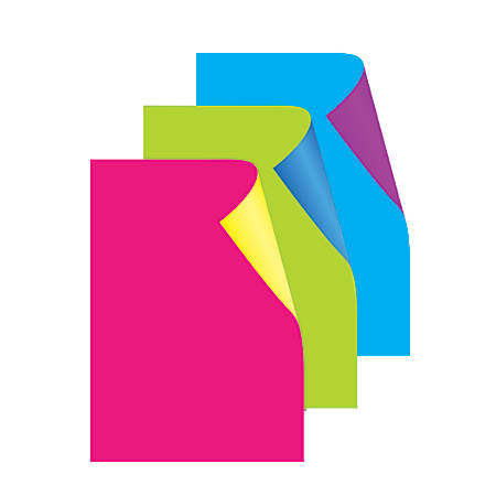 """Royal Brites® Cool Colors Poster Board, 22"""" x 28"""", Fluorescent Assorted Colors, Pack Of 3"""