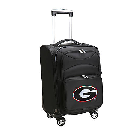 "Denco Sports Luggage Expandable Upright Rolling Carry-On Case, 21"" x 13 1/4"" x 12"", Black, Georgia Bulldogs"