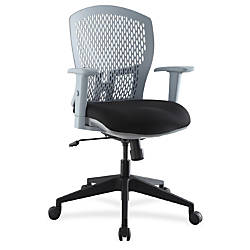 Lorell Plastic Back Flex Chair Black