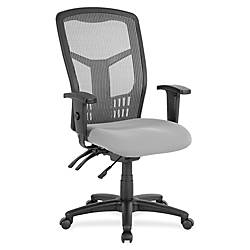Lorell Ergonomic MeshFabric High Back Multifunction
