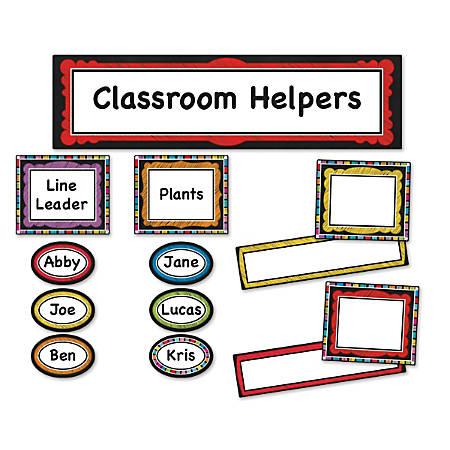Carson-Dellosa Colorful Chalkboard Classroom Management Mini Bulletin Board Set, Multicolor, Grades Pre-K - 5