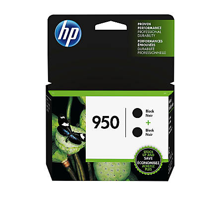 HP 950 Black Original Ink Cartridges, Pack Of 2 (L0S28AN)