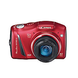 Canon PowerShot SX150 IS 14.1MP 12X Optical Zoom Red Digital Camera
