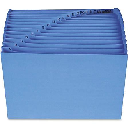 "Smead® Antimicrobial Alphabetic File, Letter Size, 7/8"" Expansion, Blue"