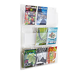 Clear Literature Rack Magazine 9 Pockets