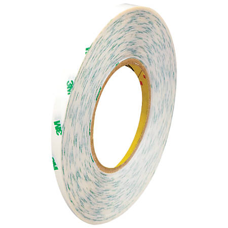 """3M™ 9082 Adhesive Transfer Tape, 3"""" Core, 0.25"""" x 60 Yd., Clear, Case Of 6"""