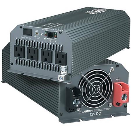 Tripp Lite Compact Inverter 1000W 12V DC to 120V AC 4 Outlets 5-15R - 12V DC - 120V AC - Continuous Power:1000W
