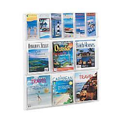 Clear Literature Rack Combination 6 Magazine