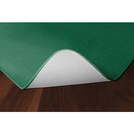 Flagship Carpets Americolors Rug, Rectangle, 4' x 6', Clover Green