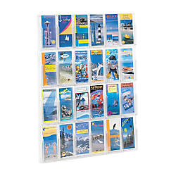 Clear Literature Rack Pamphlet 24 Pockets