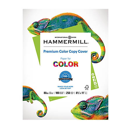 "Hammermill® Color Copy Paper, 8 1/2"" x 11"", 80 Lb, Pack Of 250 Sheets"
