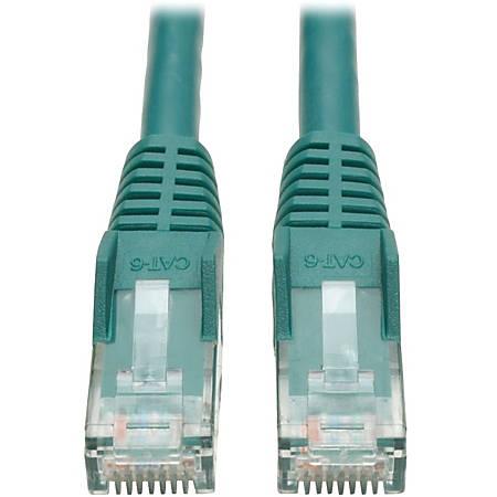 Tripp Lite 7ft Cat6 Gigabit Snagless Molded Patch Cable RJ45 M/M Green 7'