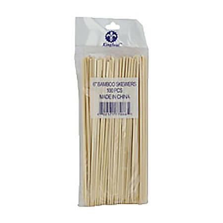 "Bamboo Food Skewer Picks, 8"", Box Of 2,400"