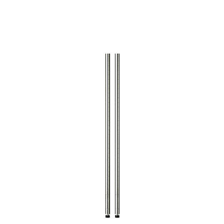 "Honey-Can-Do Steel Shelving Support Poles, 48"" x 1"", Chrome, Pack Of 2"