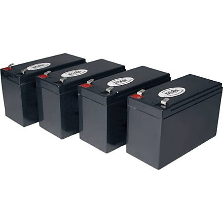 Tripp Lite UPS Replacement Battery Cartridge Kit for select UPS Brands with (4) 12V Batteries - Maintenance-free Lead Acid